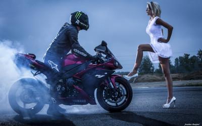 Moto Rider et l'ange
